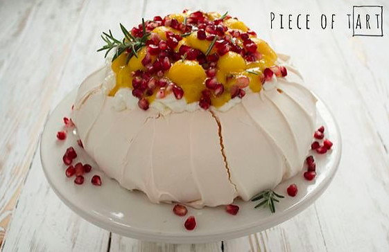 MANGO AND POMEGRANATE PAVLOVA